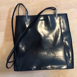 Enzo Angiolini Black Patent Leather Bag